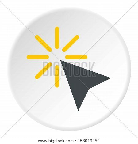 Cursor of mouse arrow clicks icon. Flat illustration of cursor of mouse arrow clicks vector icon for web