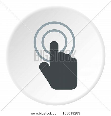 Cursor hand icon. Flat illustration of cursor hand vector icon for web