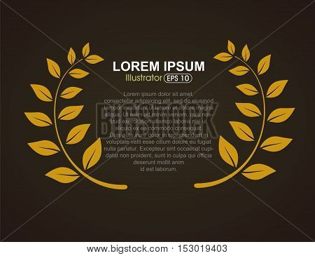 Foliage background, banner advertising background, Vector illustration.