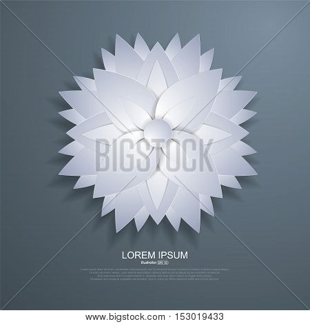Paper-cut style floral, vector illustration background,abstract illustration design.