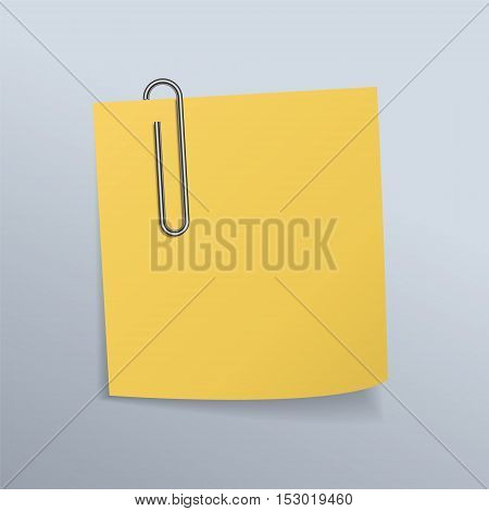 Paper clips and paper notes,business concept illustration design.