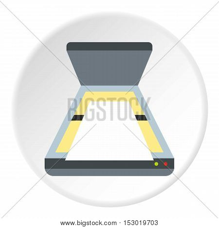 Scanner icon. Flat illustration of scanner vector icon for web