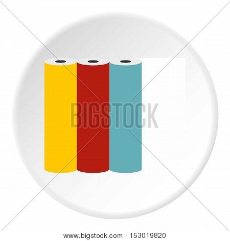 Printer cartridges icon. Flat illustration of printer cartridges vector icon for web