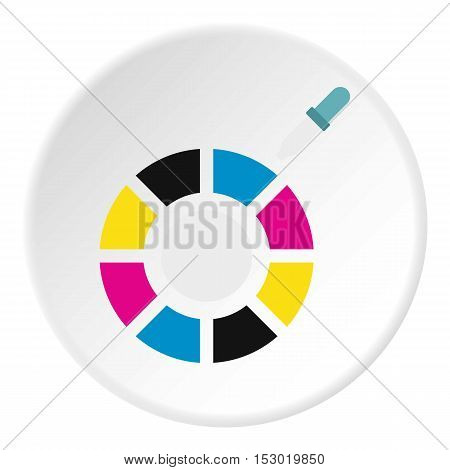 Choice of color icon. Flat illustration of choice of color vector icon for web