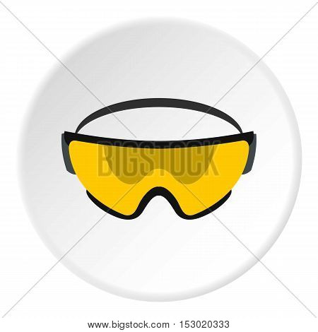 Military goggles icon. Flat illustration of military goggles vector icon for web