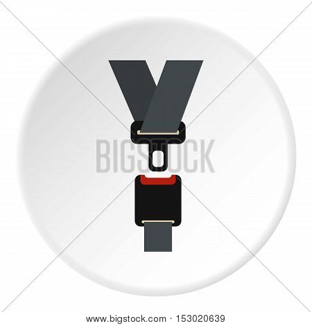 Seat belt icon. Flat illustration of seat belt vector icon for web