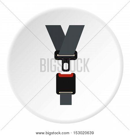 Seat belt icon. Flat illustration of seat belt vector icon for web