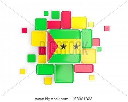 Flag Of Sao Tome And Principe, Mosaic Background