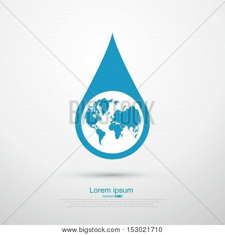 Drop the Earth ,vector illustration,graphic icon design.