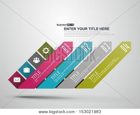 Growth infographics set. Template for diagram graph presentation and chart. Business concept parts steps or processes.