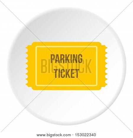 Parking ticket icon. Flat illustration of parking ticket vector icon for web