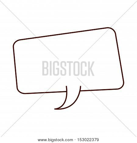 silhouette rounded rectangle callout for speech vector illustration