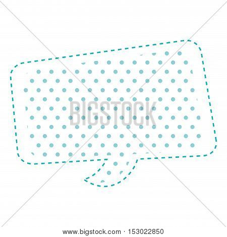 Dotted silhouette rounded rectangle callout vector illustration