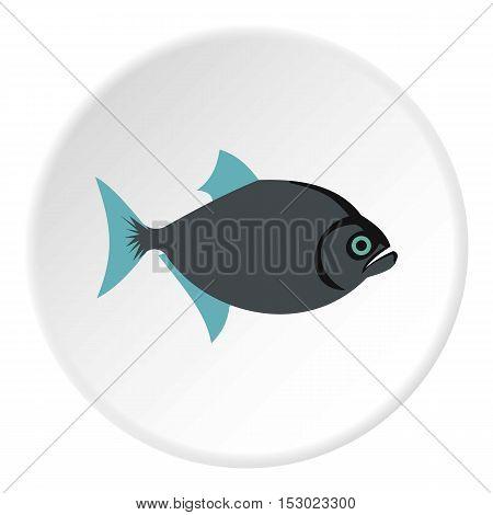 Vampire fish icon. Flat illustration of vampire fish vector icon for web