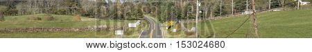 Road in the countryside in Virginia, leaderboard banner size