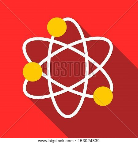 Physics icon. Flat illustration of physics vector icon for web