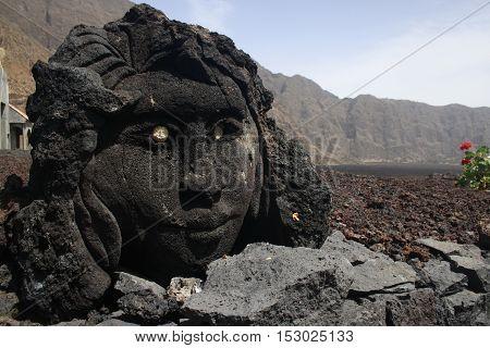 Sculpture in Chã das Caldeiras, Fogo Island, Cabo Verde