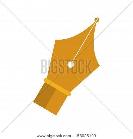 golden tip pen to write vector illustration