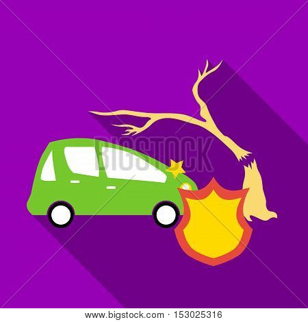 Protect machine from accident icon. Flat illustration of protect machine from accident vector icon for web