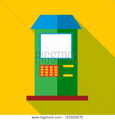ATM icon. Flat illustration of ATM vector icon for web