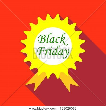 Tag black friday icon. Flat illustration of tag black friday vector icon for web