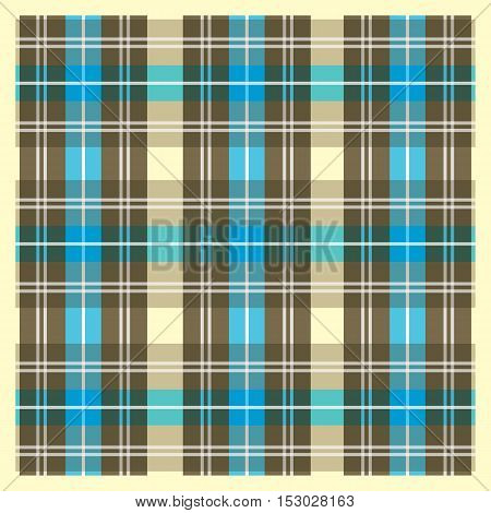 Tartan pattern. Scottish traditional square fabric vector pattern.