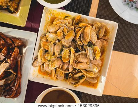 Dinner With Seafood Set.