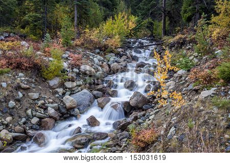 Varden Creek in Washington Cascades on Hwy 20 west of Winthrop Washington.