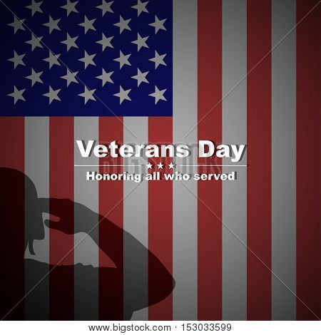 Veterans day background. Veterans day vector background. Veterans vector pattern. Veterans day design with soldier's silhouette. Veterans day stock vector.