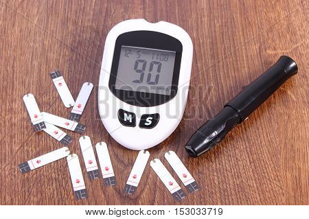 Glucometer With Accessories For Diabetic, Checking Sugar Level