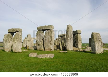 Mysterious Stone Henge on a cloudy day