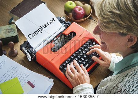 Compliance Conformity Journal Typing COncept