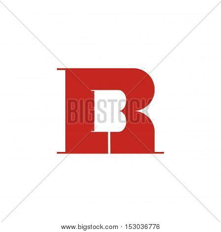 RB letter initial logo design, bold rb initial logo design