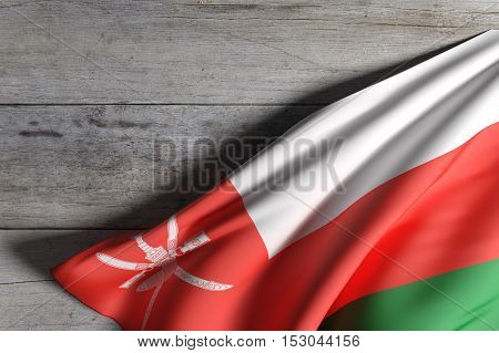 Sultanate Of Oman Flag Waving