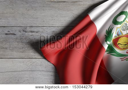 Republic Of Peru Flag Waving