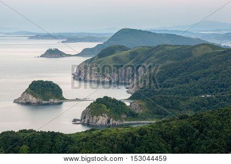 Rocks along the coastline of the sea