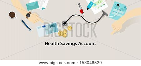 HSA Health Savings Account vector insurance medicare