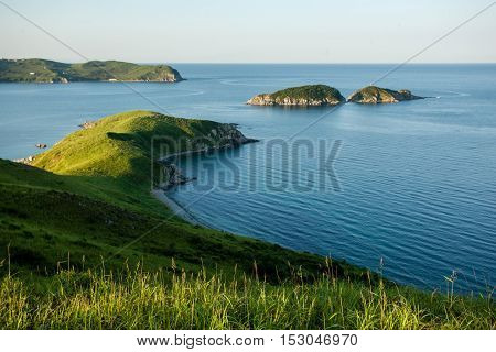 small cape and islands in the japanese sea, Russia Far East