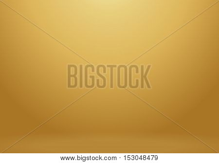 Vector illustration Gold background of gradient smooth background on elegant luxury web template or website abstract gold background. For product display and advertising and promotional purposes.