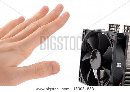 very powerful cooling fan to the computer