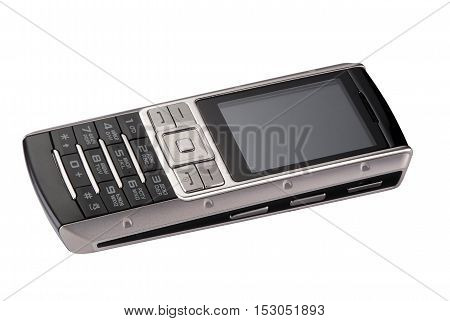 old-fashioned mobile phone with buttons and small screen