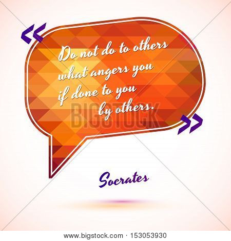 Typographical Background Illustration with quote of Socrates. Clever idea from the wise, motivating phrase
