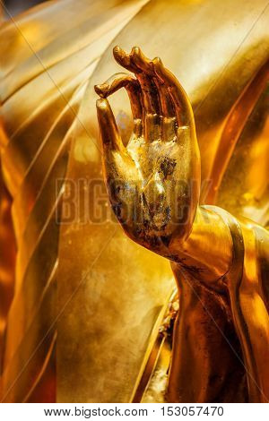 Buddha statue hand in Wat Phra That Doi Suthep, Chiang Mai, Thailand, Asia, Buddha, Buddhism, Buddhist, Buddhist temple, Chiang Mai, Thailand