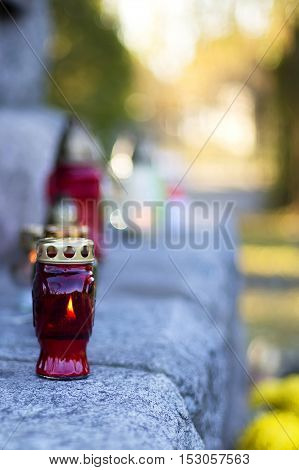 Candless in the cemetery, a Helloween background