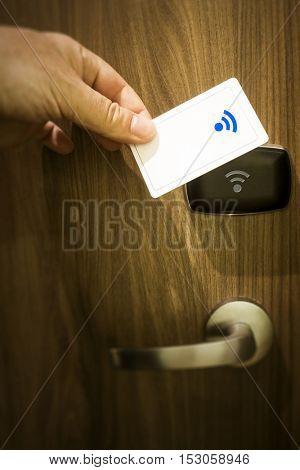 An image of a keyless door unlock