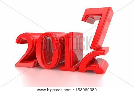 3d 2017. 2016-2017 change represents the new year 2017 three-dimensional rendering