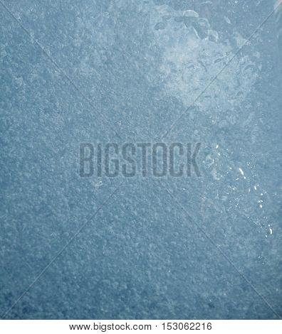 Glacier ice closeup in Anchorage Alaska USA