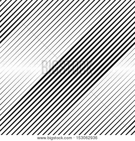 Vector Halftone Line Transition Abstract Wallpaper Pattern. Seamless Black And White Irregular Lines Background.
