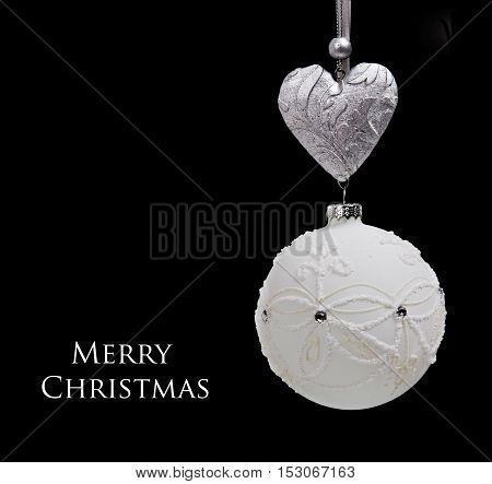 christmas ball on black background . element decoration.
