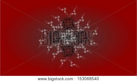 Decoration vintage element. Floral style in red color.